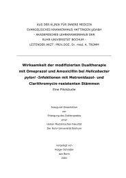 Wirksamkeit der modifizierten Dualtherapie mit Omeprazol und ...