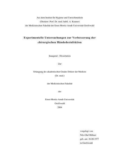 Experimentelle Untersuchungen zur Verbesserung der ...