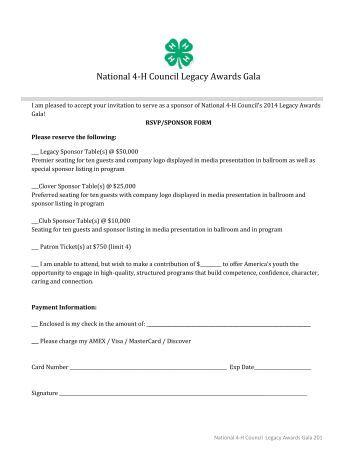 National 4-H Council Legacy Awards Gala