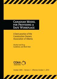 A best practice of the Construction Owners Association of Alberta