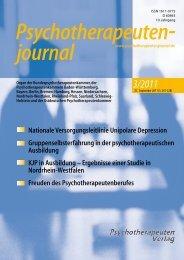 3/2011 - Psychotherapeutenjournal