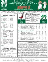 Game 31 - Fairfield