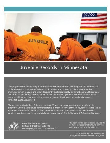 Juvenile Records in Minnesota