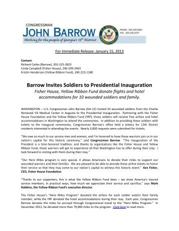 Barrow Invites Soldiers to Presidential Inauguration