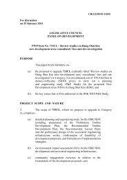 Briefing to Legislative Council Panel on Development