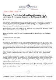 Lisez le discours du Président de la République - Œuvre de secours ...