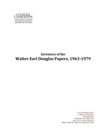 Walter Earl Douglas Papers 1963-‐1979