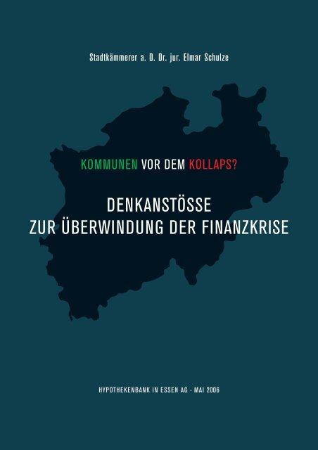 denkanstösse zur überwindung der finanzkrise - Cross-Border ...
