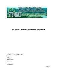 PVSTEMNET Website Development Project Plan