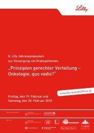 """Prinzipien gerechter Verteilung – Onkologie, quo vadis?"" - BNGO"