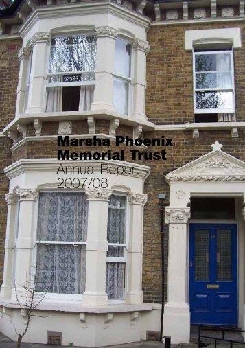 Annual report 2007-8 - Marsha Phoenix