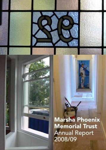Marsha Phoenix Memorial Trust Annual Report 2008/09