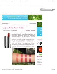 Lancome French Touch Lipsticks
