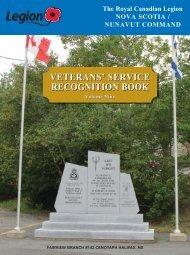 VETERANS' SERVICE RECOGNITION BOOK