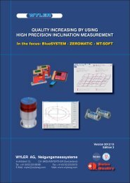 QUALITY INCREASING BY USING HIGH PRECISION INCLINATION MEASUREMENT