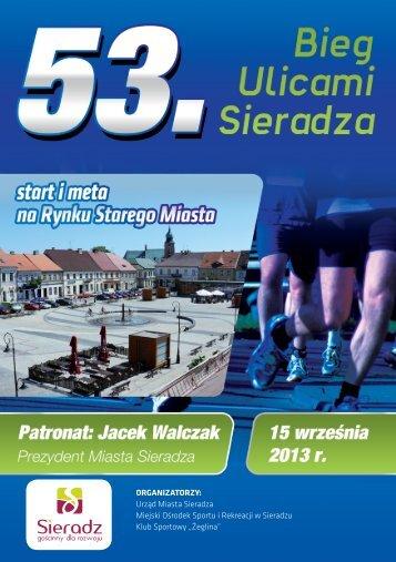 ORGANIZATORZY: Urząd Miasta Sieradza Miejski Ośrodek Sportu i ...
