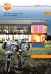 See more with the thermal imagers testo 875 and testo 881 NEW