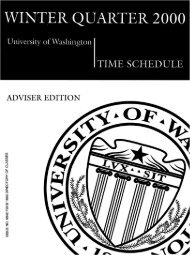 university of washington - Bad Request