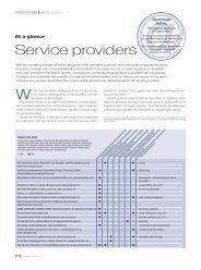 Service providers - COSSMA