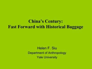 China's Century Fast Forward with Historical Baggage