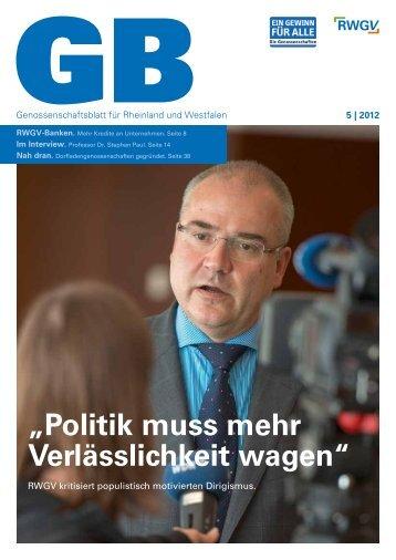 Genossenschaftsblatt 5/2012 - RWGV