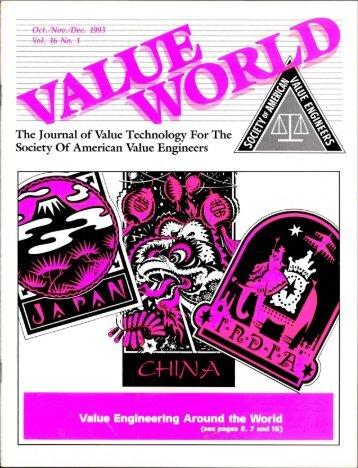 Value Engineering Around the World - SAVE International