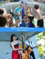 Wyoming Parks & Recreation Department 2012 Annual Report