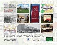 TURN ON 28TH STREET CORRIDOR SUB AREA PLAN JANUARY 2012