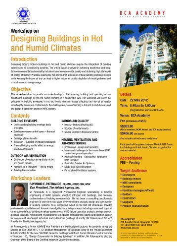 Designing Buildings in Hot and Humid Climates
