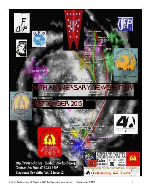 United Federation of Phoenix 40 Anniversary Newsletter September 2015 1