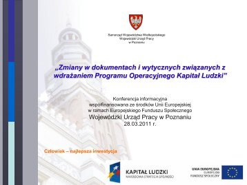 KAPITAŁ LUDZKI - EFS - Poznań