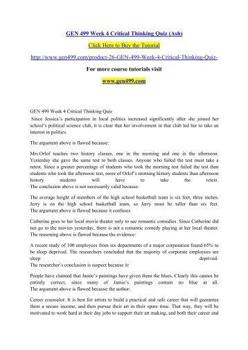 critical thinking paper apol 104 islam