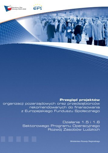 Przegląd projektów organizacji pozarządowych oraz ...