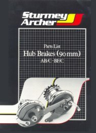 Sturmey Archer BF/C and AB/C