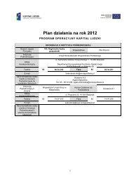 Plan działania na rok 2012