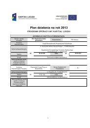 Plan działania na rok 2013