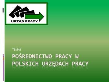 POLSKICH URZĘDACH PRACY