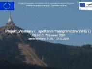 """Projekt """"Wymiany i spotkania transgraniczne""""(WIST)"""