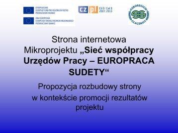 Prezentacja: Strona internetowa Mikroprojektu (SD2.PDF) - Sieć ...