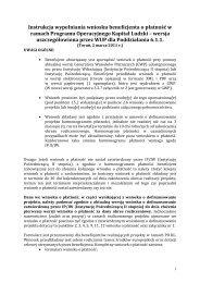 Instrukcja do wniosku o płatność oraz załącznika nr 1 - Toruń