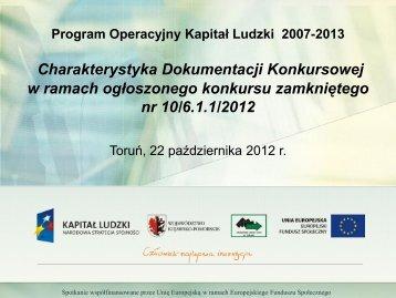 Dokumentacja Konkursowa - Wojewódzki Urząd Pracy - Toruń