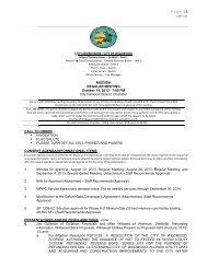 P age | 1 Agenda - The City of Wildwood, Florida