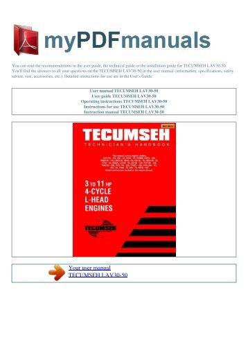 Tecumseh to sears cross pdf