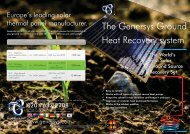 The Genersys Ground Heat Recovery system - Solar Rosa Home