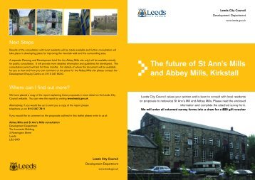The future of St Ann's Mills and Abbey Mills Kirkstall