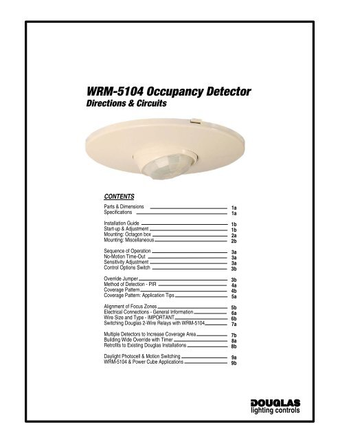WRM-5104 Occupancy Detector on
