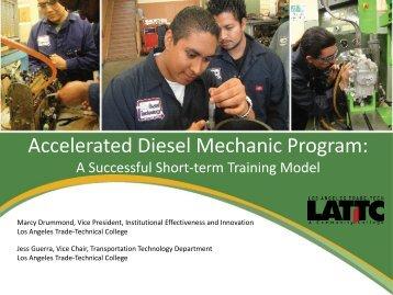 Accelerated Diesel Mechanic Program