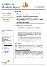 Heemskirk launches recommended takeover offer