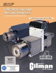 """CNC Routing and Milling Spindles"" Catalog No. 702"