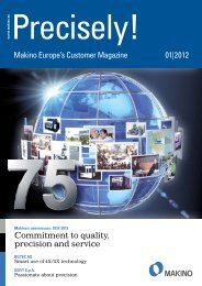 Commitment to quality, precision and service Makino Europe's ...